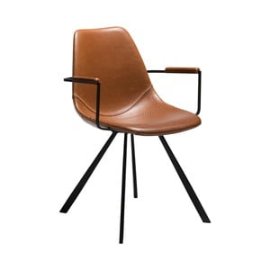 Světle hnědá jídelní židle s područkami DAN-FORM Denmark Pitch