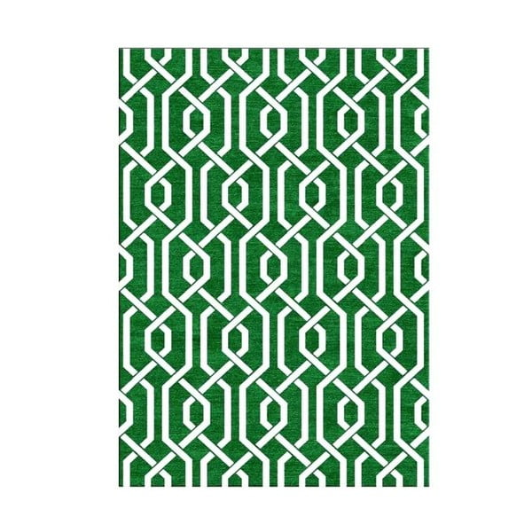 Vlněný koberec Camila Green, 155x240 cm