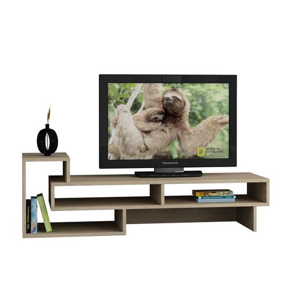 Televizní stolek Tetra, bílá/dub