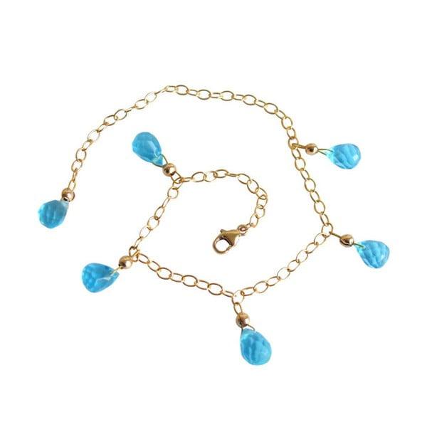 Zlatý náramek Blue Topaz Quarz (topaz)