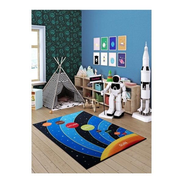 Modrý dětský koberec Galaxy Blue, 100 x 150 cm
