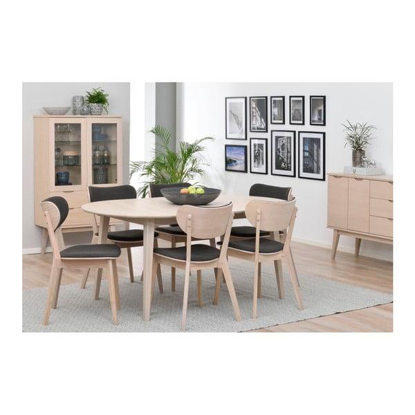 Světlý oválný dubový rozkládací jídelní stůl Folke Mimi, délka až 210cm