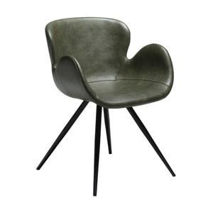 Zelená koženková židle DAN-FORM Denmark Gaia