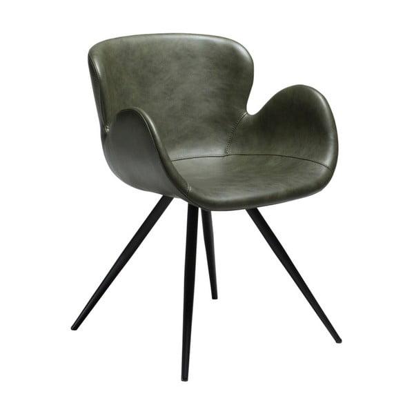 Zielone krzesło ze skóry ekologicznej DAN-FORM Denmark Gaia