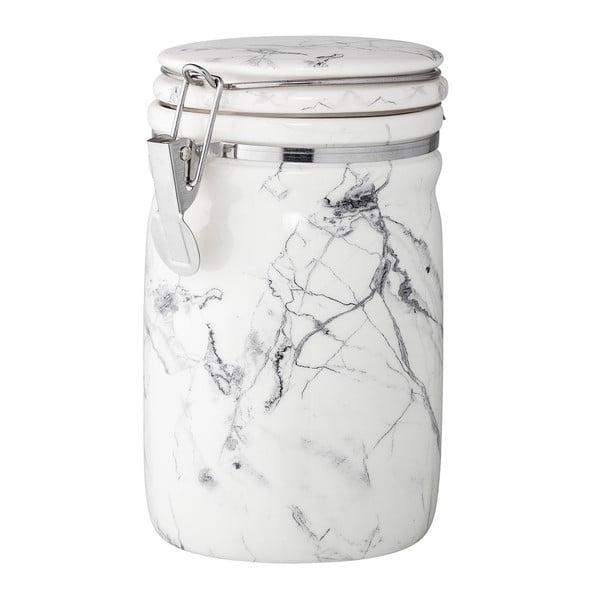 Porcelánová dóza s mramorovým dekorom Bloomingville Minimal, výška 17 cm