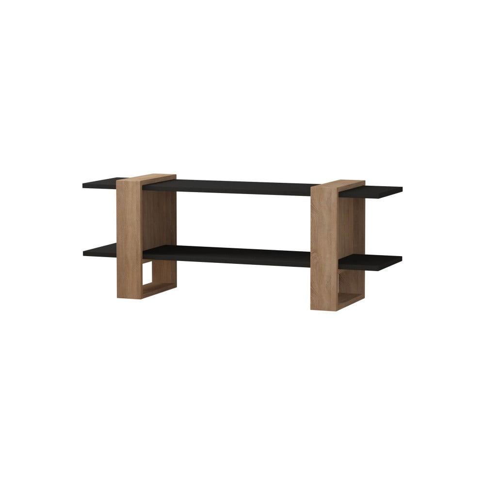 Hnědý TV stolek s antracitovými detaily Homitis Certo