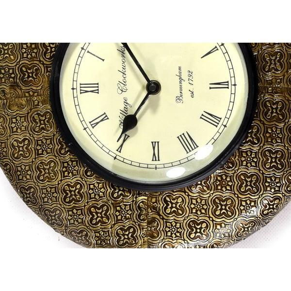 Nástěnné hodiny z tepaného kovu Sikkim, 32 cm