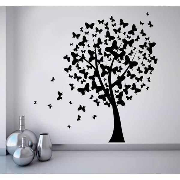 Samolepka na stěnu Motýlí strom, 90x120 cm