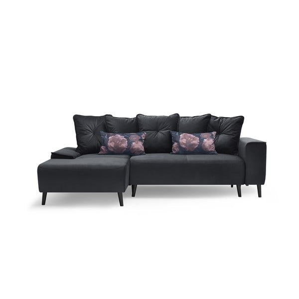 Hera Bis szürke kinyitható kanapé, bal sarok - Bobochic Paris
