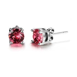 Náušnice s růžovými krystaly Swarovski Elements Crystals Hailye