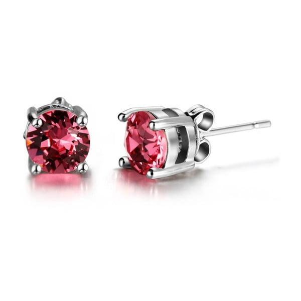 Kolczyki z różowymi kryształami Swarovski Elements Crystals Hailye
