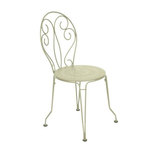 Zelenkavá kovová židle Fermob Montmartre