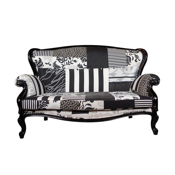 Sofa Ornamental Black&White, 2místné