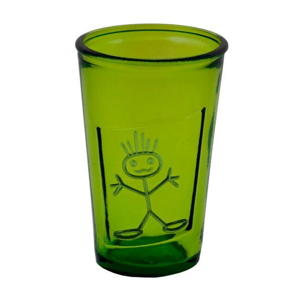 Zelená sklenice z recyklovaného skla Ego Dekor Zeus, 300ml
