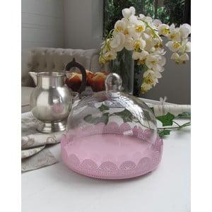 Stojan s poklopem Light Pink, 25x23 cm