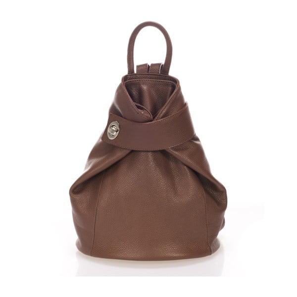 Hnědý kožený batoh Lisa Minardi Narni