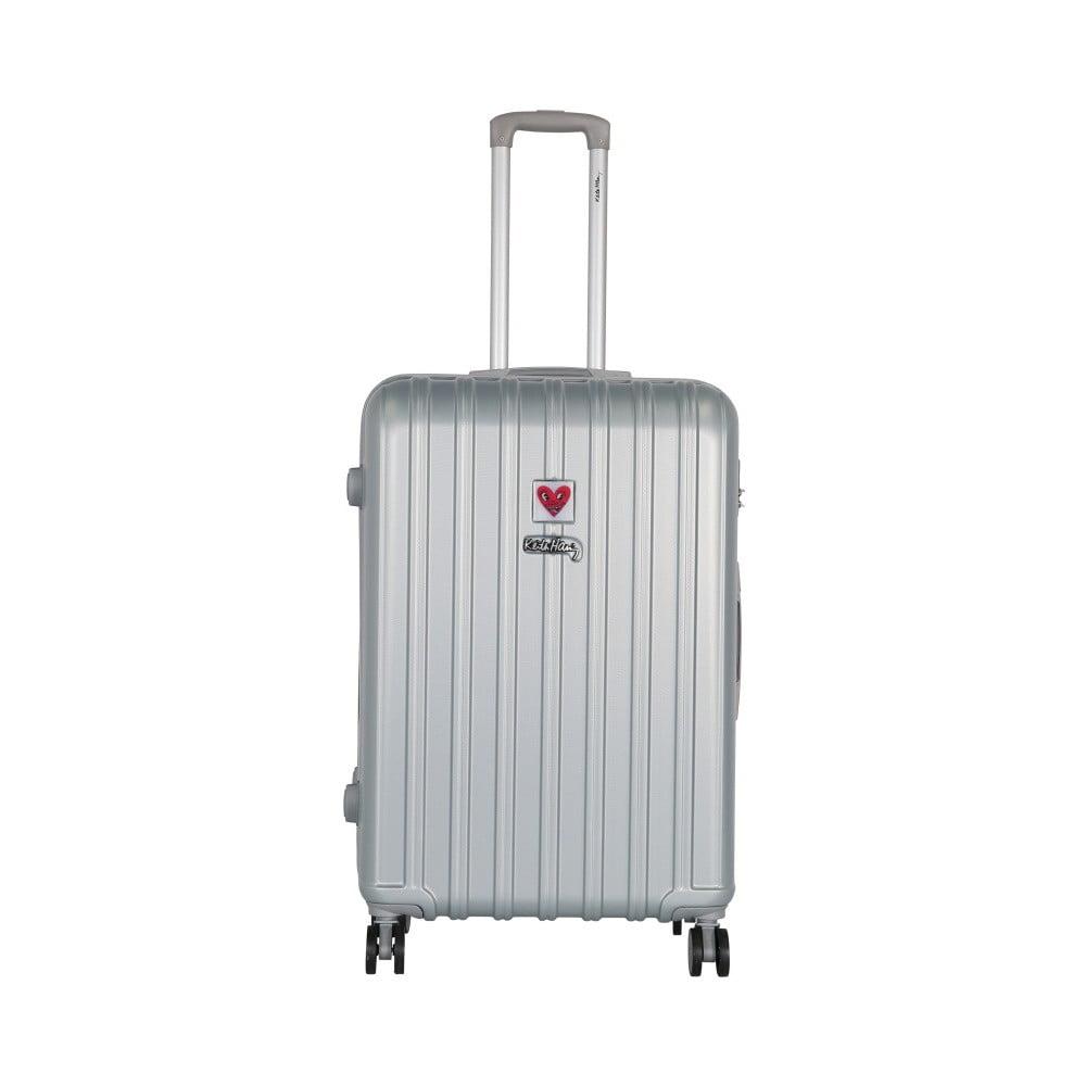Světle šedý cestovní kufr LULU CASTAGNETTE Edge, 107l
