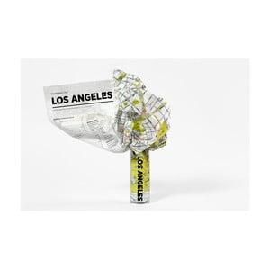 Zmačkaná cestovní mapa Palomar Los Angeles