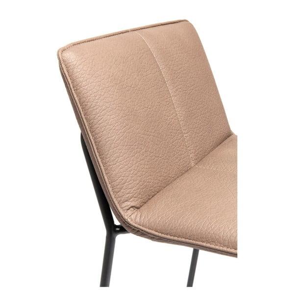 Sada 2 barových židlí se světle růžovým potahem Kare Design