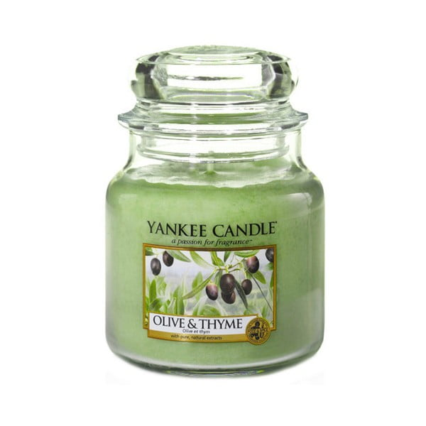 Lumânare parfumată Yankee Candle Olive and Thyme, timp de ardere 65 - 90 ore