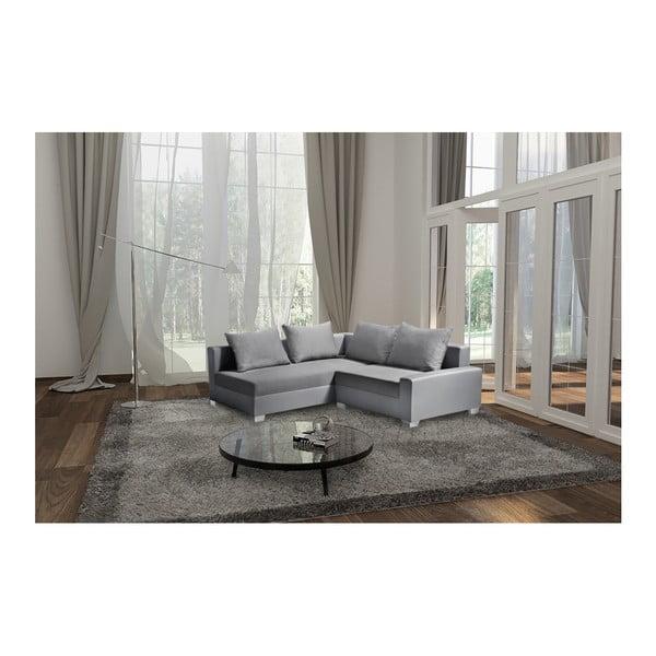 Světle šedá sedačka Interieur De Famille Paris Aventure, levý roh