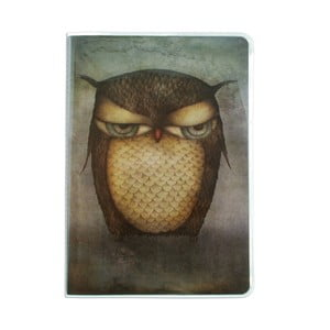 Caiet Santoro London Grumpy Owl, format A5