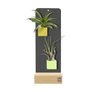 Podstavec pro magnetické květináče, černý, 9x24 cm