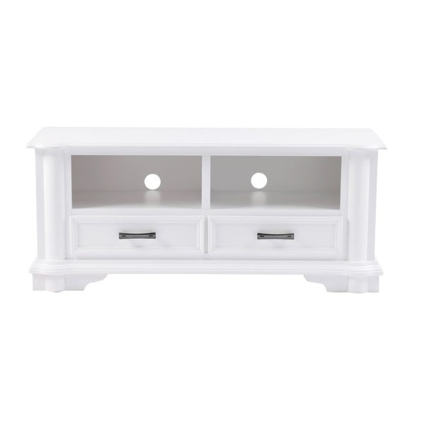 Bílý TV stolek Folke Amadeus, délka125cm