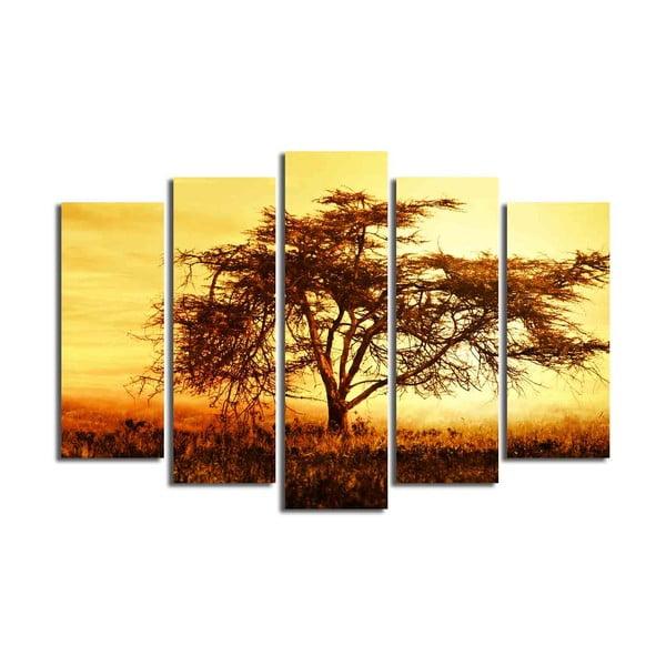 Tablou din mai multe piese Big Tree, 105 x 70 cm