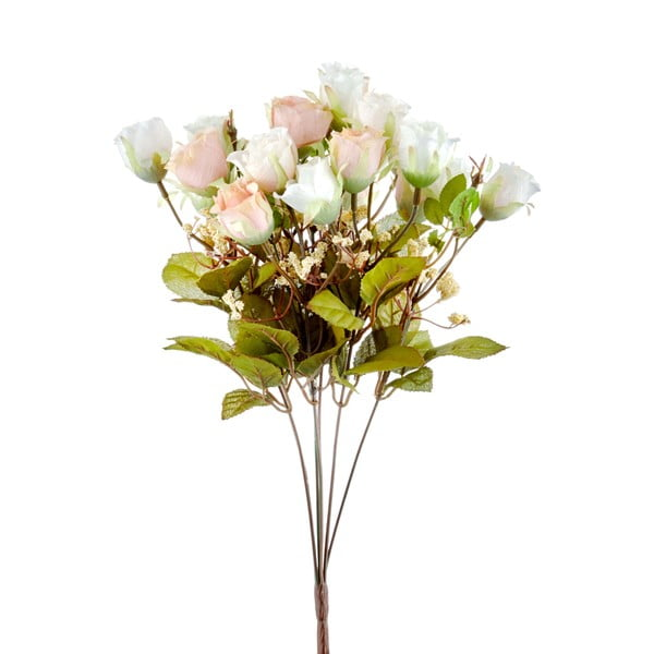 Pugét umělých bílých růží The Mia