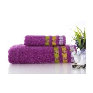 Set dvou ručníků Truva Lilac, 90x150 a 50x90 cm