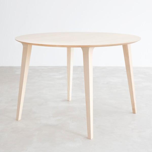 Stůl z přírodního jasanu Stua Lau, 100cm