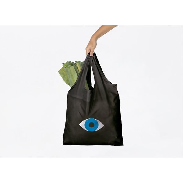 Sacoșă pentru cumpărături DOIY Eye, negru