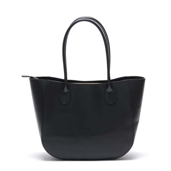Kožená kabelka Cuco, černá