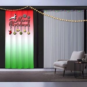 Vánoční závěs Red and Green, 140 x 260 cm