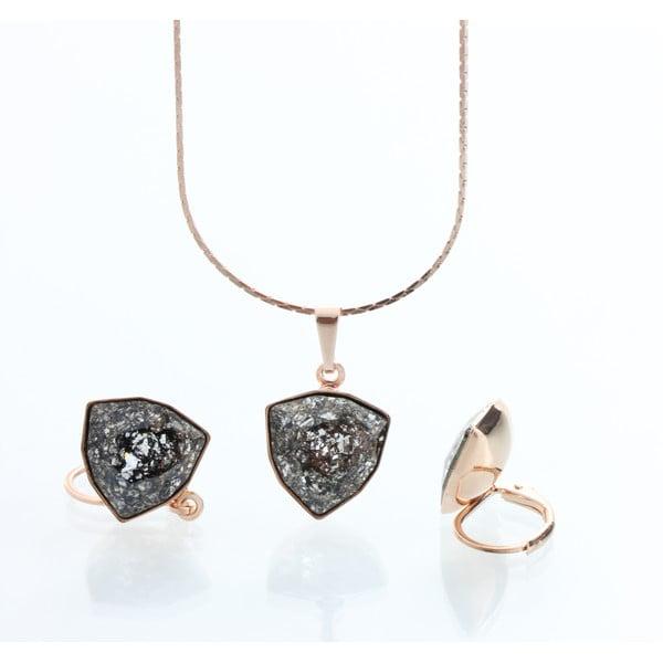 Set náhrdelníku a náušnic s krystaly Swarovski Elements Laura Bruni Kloma