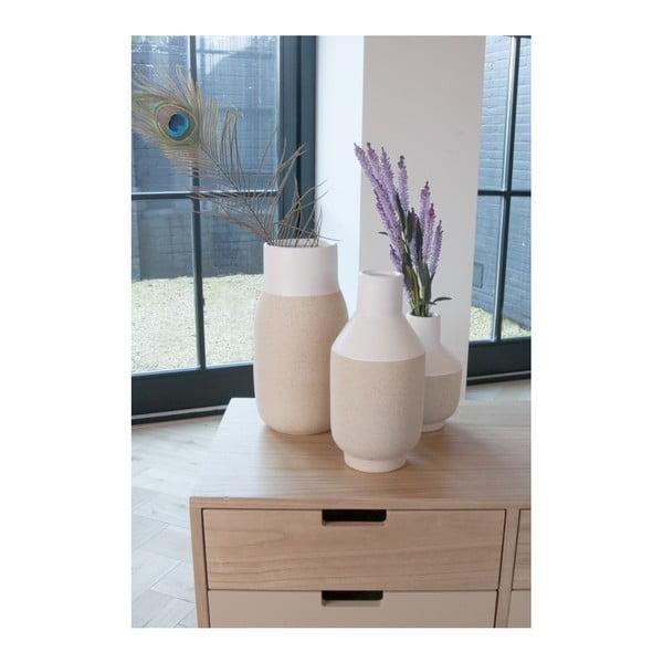 Bílá keramická váza PT LIVING, výška 16,5 cm