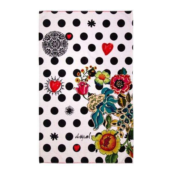 Osuška DESIGUAL Polka Dots Negro, 95 x 150 cm