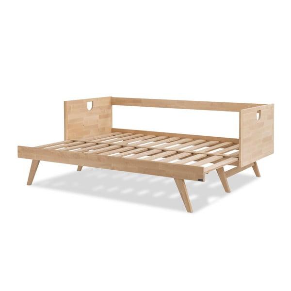 Ručně vyráběná konstrukce rozkládací pohovky z masivního březového dřeva Kiteen Notte, 200x75cm