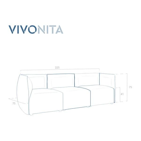 Tmavě hnědá třímístná modulová pohovka Vivonita Cube