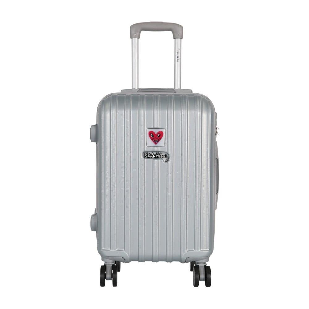 Světle šedý příruční kufr LULU CASTAGNETTE Edge, 44l