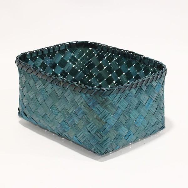 Coș depozitare din bambus Compactor, albastru