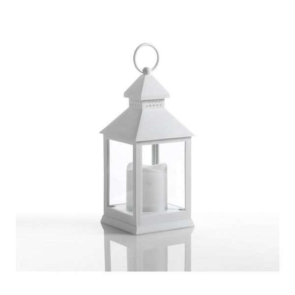 Malý biely dekoratívny LED lampáš vhodný do exteriéru Tomasucci Lante