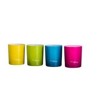 Set svícnů Colores na čajové svíčky, 4 ks