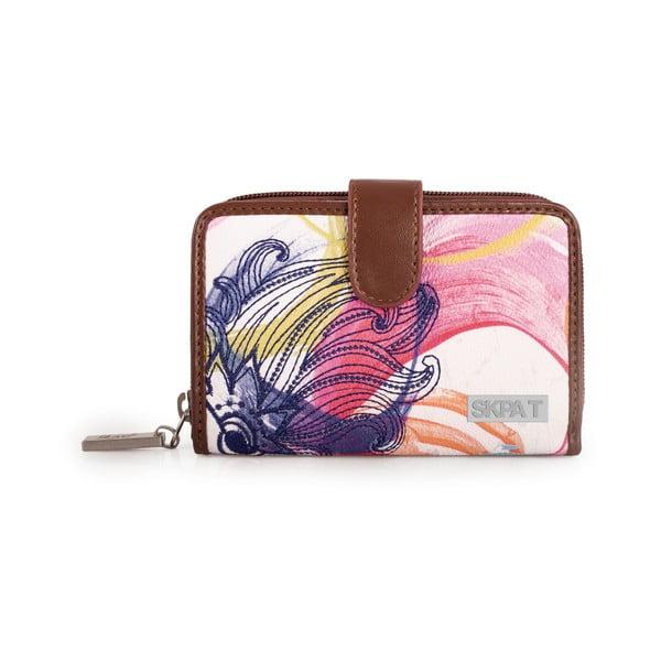 Bílo-růžová peněženka SKPA-T, 14 x 9 cm