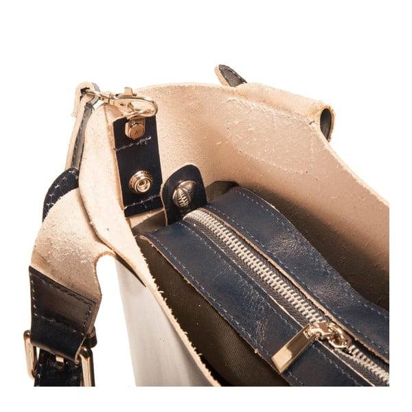 Tmavě modrá kabelka z pravé kůže Andrea Cardone Stefano