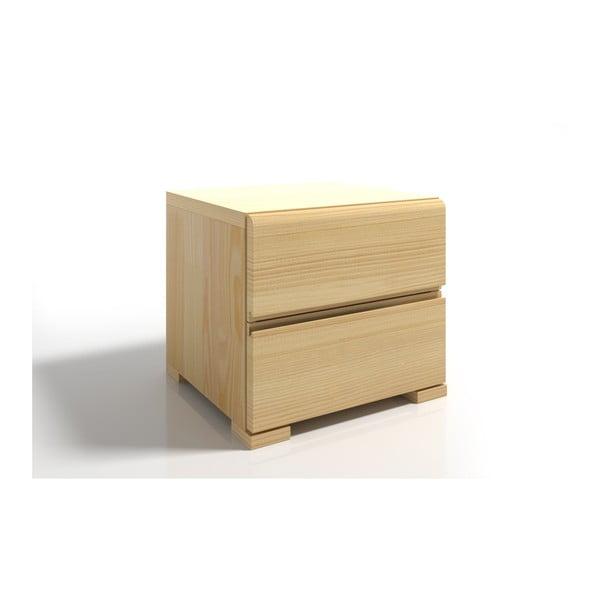 Noptieră din lemn de pin cu 2 sertare SKANDICA Vestre