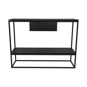 Černý konzolový stolek Take Me HOME Lubin, 100x30cm