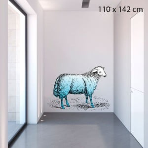 Samolepka Blue Sheep, 142x110 cm