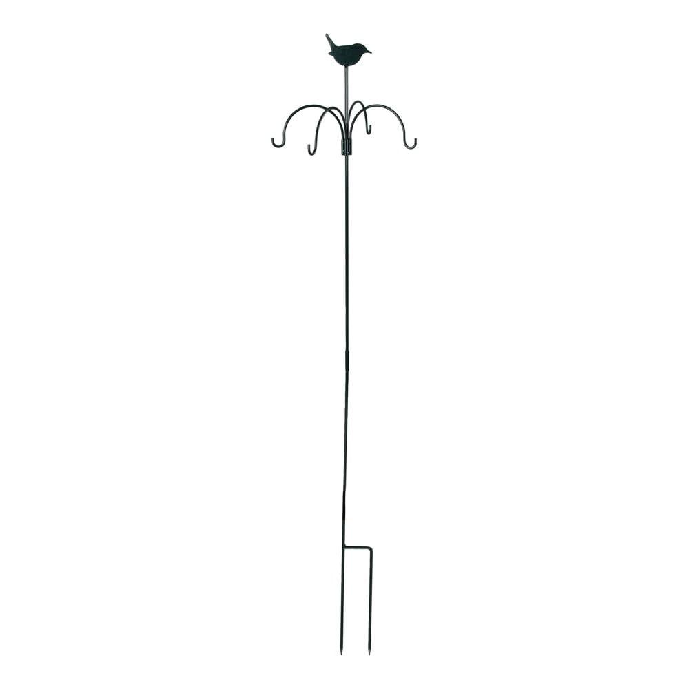 Černé krmítko se zápichem Esschert Design, výška148cm